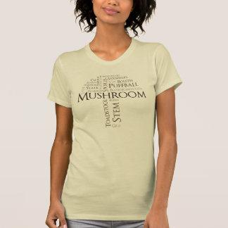 Word Mushroom T-Shirt (Brown Text)