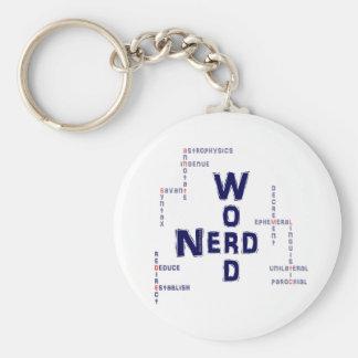 Word Nerd Basic Round Button Keychain