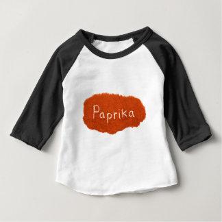 Word paprika written in paprika powder baby T-Shirt