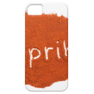 Word paprika written in paprika powder iPhone 5 cases