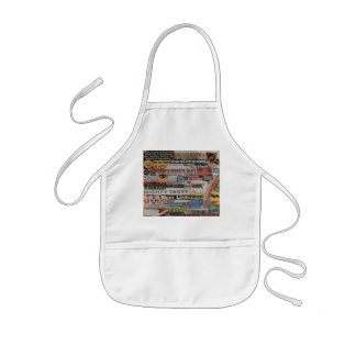 Word phrase clippings from word collage kids apron