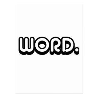 Word Postcard