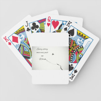 Word Quote Bicycle Playing Cards