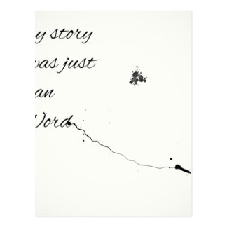 Word Quote Postcard