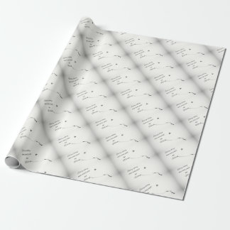 Word Quote Wrapping Paper