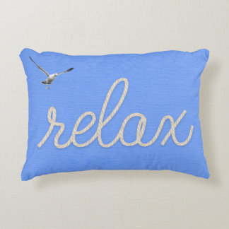 """word 'relax"""" rope design decorative pillow"""