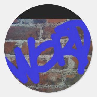 Word Round Sticker