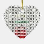 Word Search Love Enfeites Para Arvores De Natal