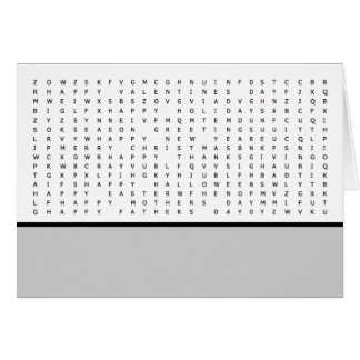 Word Search Puzzle Holidays Card