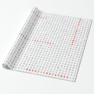 Word Search Puzzle Merry Christmas Wrapping Paper