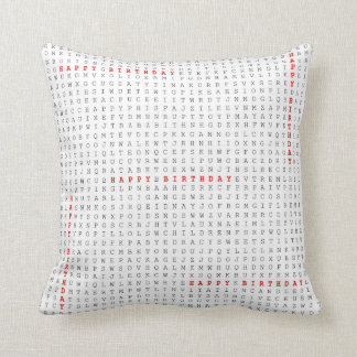 Word Search Puzzle The Birthday Gift Happy Throw Pillow