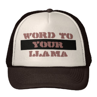 Word to Your Llama Hat