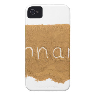 Word written in Cinnamon powder on white backgroun Case-Mate iPhone 4 Cases