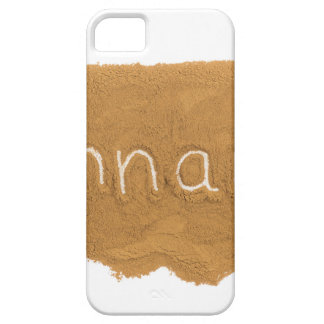 Word written in Cinnamon powder on white backgroun iPhone 5 Cover