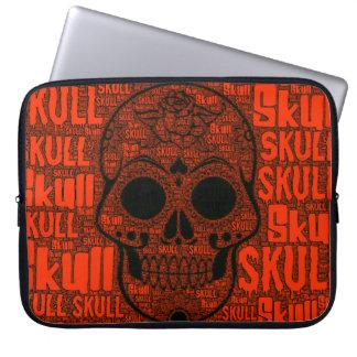 WordArt Skull B Laptop Sleeve
