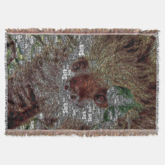 WordArt Sloth Throw Blanket