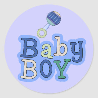 Words Baby Boy W/Rattle Fun Stickers