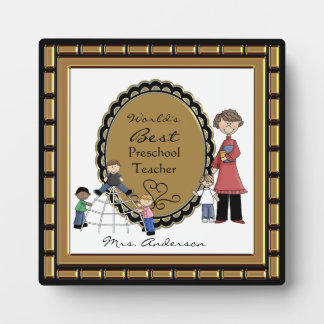 Word's Best Daycare Preschool Teacher Plaque