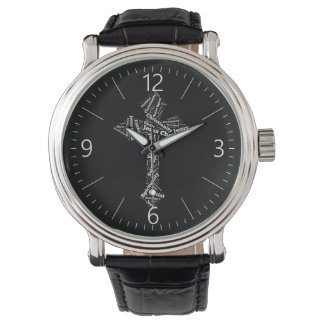 Words Christian cross Watch