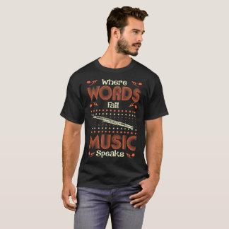 Words Fail Music Speaks Bassoon Music Instrument T-Shirt
