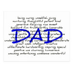 Words For Dad Postcard