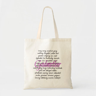 Words for Godmother Tote Bag