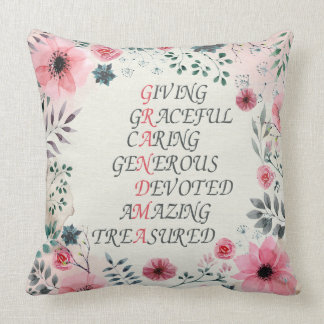 Words For Grandma Polyester Throw Pillow