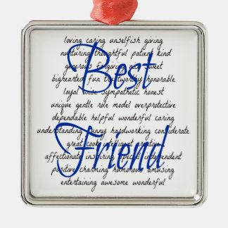 Words for Male Best Friend Metal Ornament