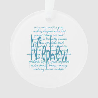 Words for Nephew in Blue Ornament