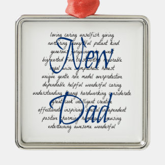 Words for New Dad Metal Ornament