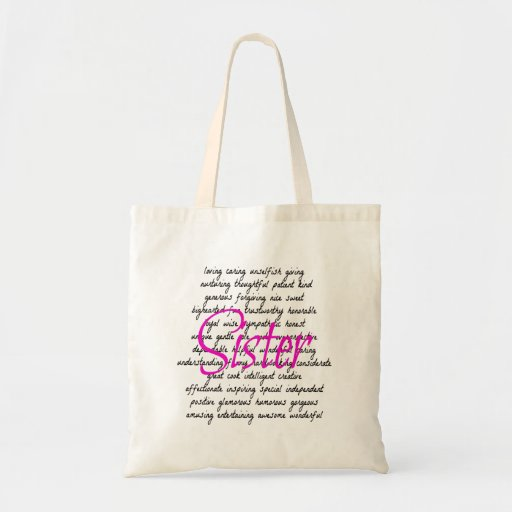 Words for Sister Tote Bag