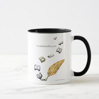 Words In Flight ringer mug (black)