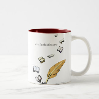 Words In Flight two-tone mug