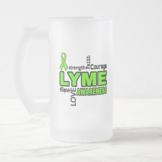 Words...Lyme Frosted Glass Beer Mug