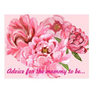 Words of advice card postcard