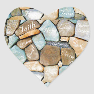 Words Of encouragement,Words of Hope_ Heart Sticker