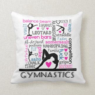 Words of Gymnastics Terminology Throw Pillow