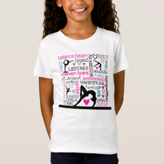 Words of Gymnastics Tri-Color Terminology T-Shirt