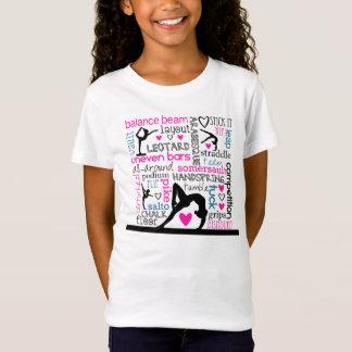 Words of Gymnastics Tri-Color Terminology T-Shirt