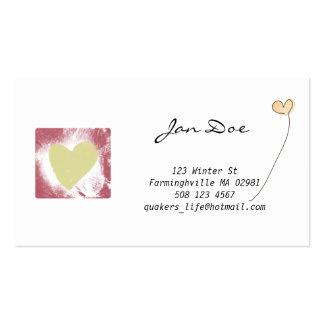 Words of Hope Business card