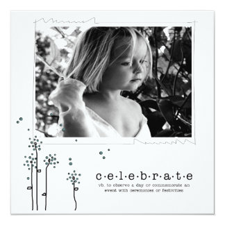 "words of hope invitations 5.25"" square invitation card"