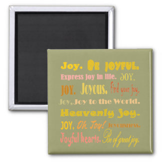 Words of Joy uplifting thoughts magnet
