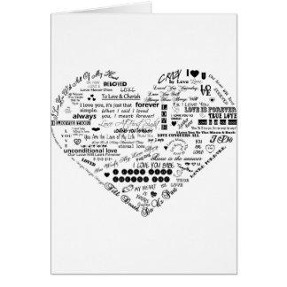Words of Love Custom Greeting Card