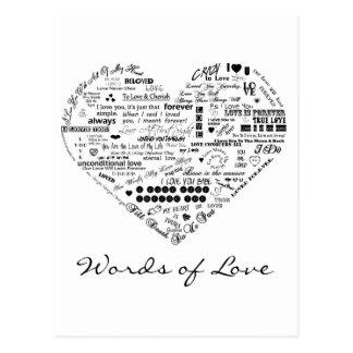 Words of Love Custom Postcard