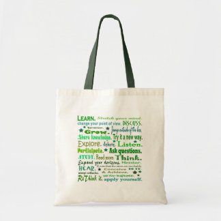 Words of Wisdom Collage Sack Tote Bag