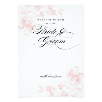 Words of wisdom for the bride | Bridal Shower Card