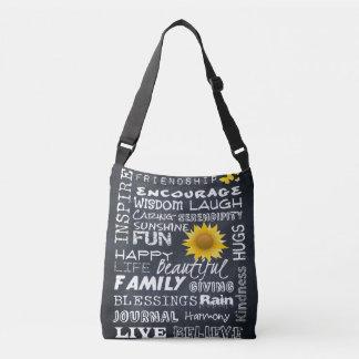 Words on a Chalkboard - Crossbody PURSE Crossbody Bag