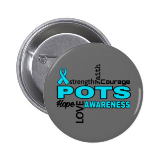 Words...P.O.T.S. 2 Inch Round Button