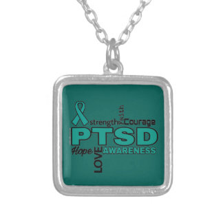 Words...PTSD Silver Plated Necklace