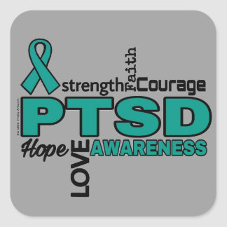 Words...PTSD Square Sticker